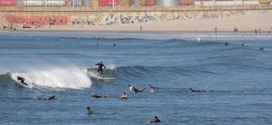 Matosinhos is great for surfing