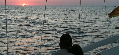 Sunset boat Ibiza