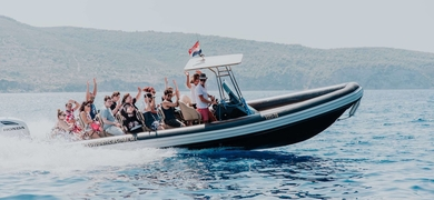 Boat trip from Trogir to Brač and Hvar