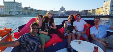 Private boat in Lisbon