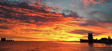 Sunset in Lisbon from the Tagus