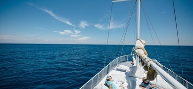 Enjoy a day out on sea on our beautiful yacht