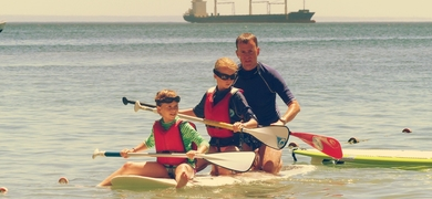 Cover for Coastal stand-up paddle in Cascais