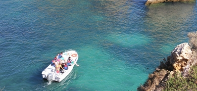 Grotto boat tour from Lagos Algarve Portugal
