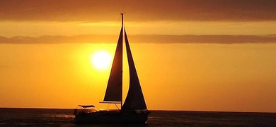 Sunset sailing Lisbon Cover