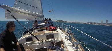 Sail swim Barcelona