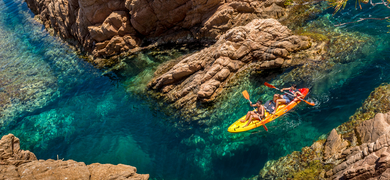 Kayak tour in Barcelona with snorkeling