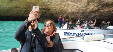 Take some selfies in front of the Benagil cave