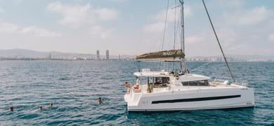 Private catamaran in Barcelona
