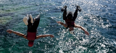 Cliff jumping in Mallorca