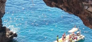 Rope swing in Mallorca