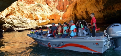 Our boat can really access the caves