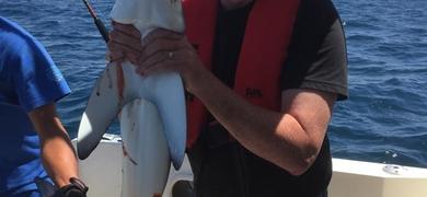 Shark fishing from Alvor Portugal
