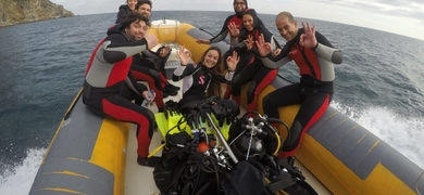 Our dives are done from one f our boats, to reach the best spots!