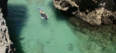 You'll be amazed by the colors of the waters of Sesimbra
