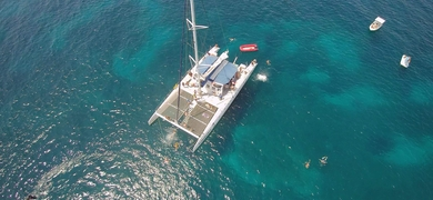Cover for private catamaran in Alicante