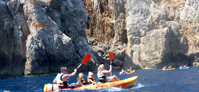Cover for kayak tour in Menorca