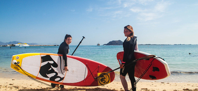 Cover for stand-up paddle in Fuerteventura
