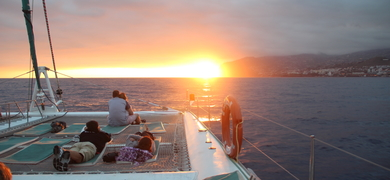 Sunset cruise in Madeira