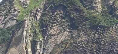 Amazing cliffs San Sebastian