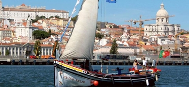 Private traditional boats in Lisbon