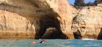 Algarve cave swimming tour