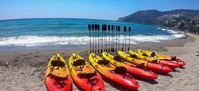 Kayak adventure in La Herradura