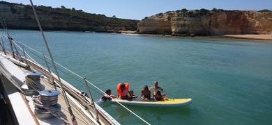 SUP sailing family