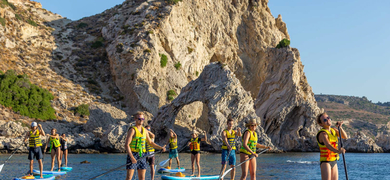 Cover for SUP Tour in Rhodes with snorkeling