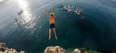 Do you dare to do cliff-jumping?