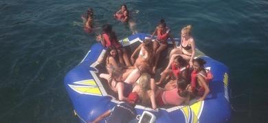 Family boat trip in Lagos