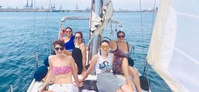 Happy group on a Valencia Sailing Tour