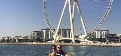Explore the city skyline of Dubai