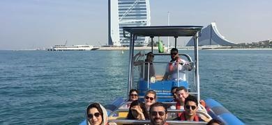 Come on board the fast boat in Dubai