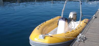 Private RIB boat in Sesimbra