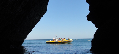 private boat in Sesimbra