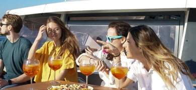 Private meal on a catamaran in Barcelona