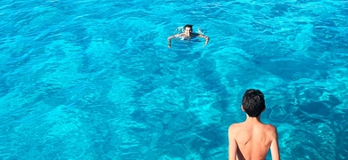Dive in the turquoise waters in Ibiza