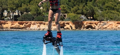 Fly above the water in Ibiza