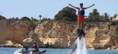 Fly boarding in the Algarve