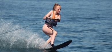 Water skiing in Armação de Pêra