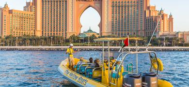 Fast boat ride in Dubai