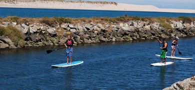 SUP  is a good way to stay in shape