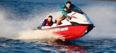 Jet skis can reach high speeds