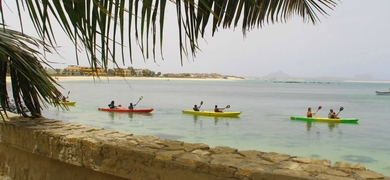 Enjoy kayaking along a small islet situated in front of Sal Rei