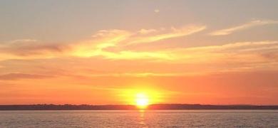 Enjoy a spectacular sunset