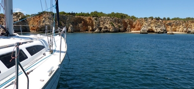 Sailing is a great way to explore the stunning coastline