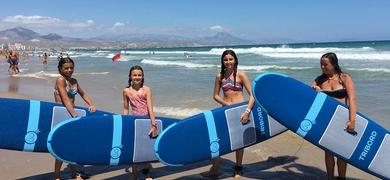 Alicante surfing