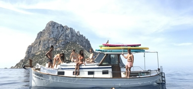 Boat and SUP tour to Es Vedra