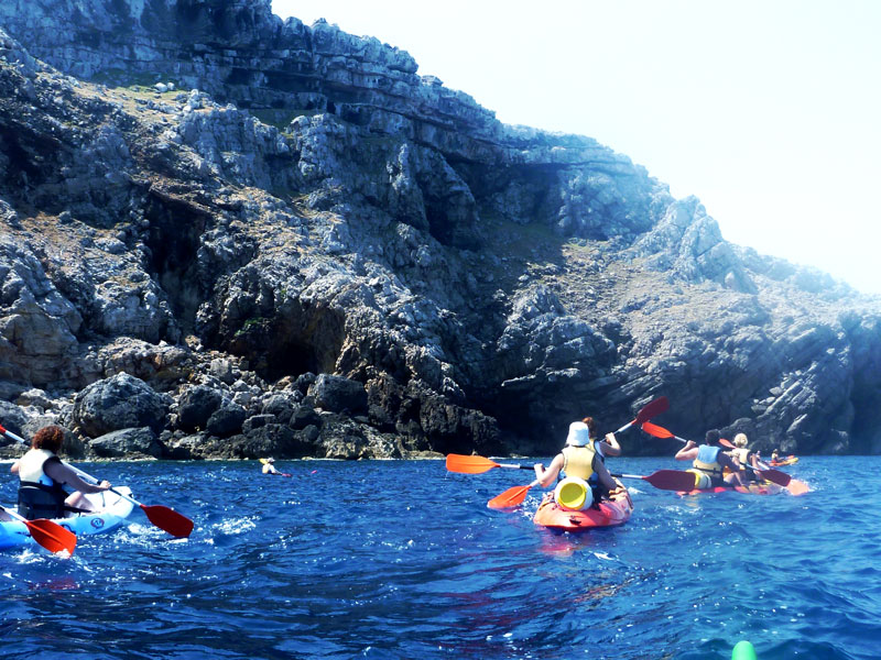 Kayak trip in Menorca